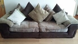 FOR SALE : Leekes four seater sofa good condition.