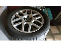 16inch 5x100 BBS Montreal II's with new tyres
