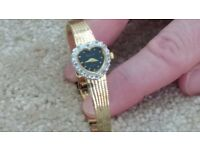 Accurist Ladies Watch Heart Shaped, good condition