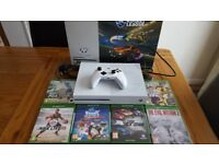 Xbox one s 500gb console with games