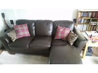 3 Seater settee with chaise