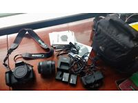 Canon EOS 1100D dSLR camera in perfect condition with full accessories.