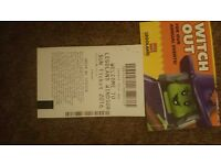 Legoland tickets x 2, admit child or adult. Valid 1st August only..
