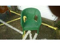 Green loom bedroom chair,excellent condition