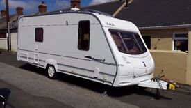 Caravan Swift Ace Award Tristar Fixed Bed,Fitted Motor mover and Awning