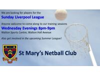 Netball Club looking for players
