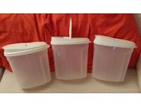 3 New Medium Size Food Storage Containers