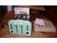 4 Slice Morphy Richards Toaster - Retro Accents model. Sage Green - Brand New unused