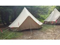 5 metre Ultimate Pro Canvas bell tents (used May-October 2016)