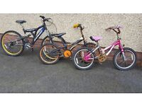3 kids Bicycles needing repairs