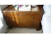 Pine 2 drawer chest , oak effect - need gone ASAP