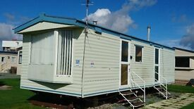 STATIC CARAVAN HOLIDAY HOME FOR SALE ON OCEAN EDGE HOLIDAY PARK. 12MTH OWNERS SEASON, POOL & SAUNA