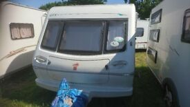 Elddis Tornado GTX 4 Berth Touring Caravan Fixed Bed