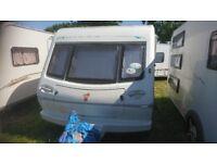 Elddis Tornado GTX 4 Berth Touring Caravan Fixed Bed