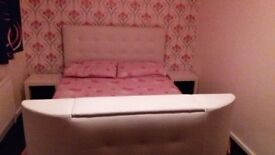 Double bed frame with tv