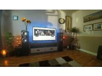 Complete home cinema surround sound system with Yamaha amp and Tannoy 5.1 speakers