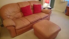 Leather 4 piece suite for sale