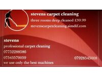 carpet cleaning any two rooms £29.99 any three £39.99 any size
