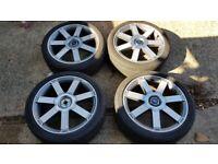 "4x 18"" Ford Focus Ronal alloy wheels (5x108) - Renault Jaguar Volvo"