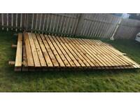 22metres of 6ft high fence panels