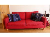 John Lewis 'Bailey' 3 Seater Sofa - Crimson. RRP £949