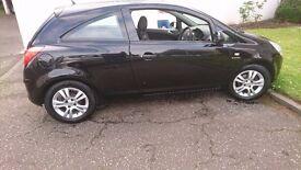 2010 Vauxhall Corsa 1.2 12v Energy 3 Door Hatch in metallic black.