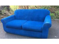 Two sofas, one is a sprung sofa-bed £120 for the pair