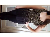 House of Fraser Black & Gold Glitter Top. Size 16/14. Never Been Worn, With Tags. £9