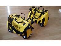 2x Trunki Ride-on Suitcase - Bernard the Bee
