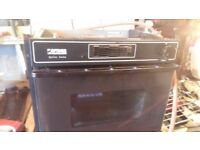 Optimus 6060 Black oven for caravan Motorhome ETC