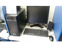 Asus Desktop PC, Intel Core i3 3.70 GHz, 4GB RAM, 1000GB HDD, WIFI Bluetooth, card reader Windows 10