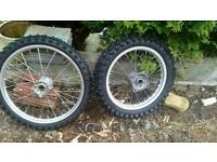 Motorbike wheels and tyres brand new!
