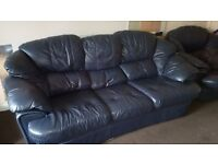 4 Piece leather sofa, 3 seater , 2 armchair and footstool.