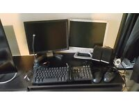 PC monitors, printers and lots of equipment