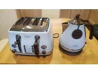 D longhi kettle and toaster