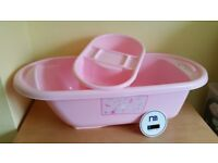 Baby bath tub and top & tail bowl
