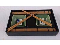 Japanese Asian Bowl Chopsticks Bamboo Set