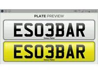 Private Number Plate 'ESCOBAR' ES03BAR