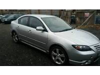 ***MAZDA 3 SALOON LOW MILEAGE ONLY 64000 WITH FULL LEATHER INTERIOR FREE 3 MONTHS WARRANTY**