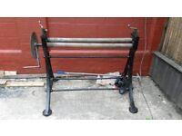 Freestanding sheet metal rolling machine