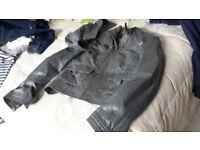 Zara olive green soft leather jacket size 8