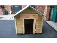 Large rustic style dog kennel