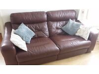 Luxury Leather Reclining 3 piece sofa and armchair set