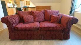 Laura Ashley Salisbury sofa and footstool