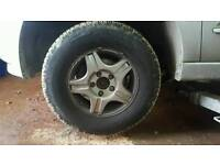 """Ssangyoung kyron 16"""" alloys and tyres 5x130"""
