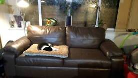 Genuine leather sofa bed for sale
