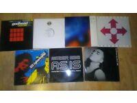 8 x nitzer ebb - vinyl collection godhead / murderous / i thought / lightning man /