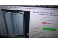 Merylin Quadrant Shower Enclosure 800mm / 1000mm + Shower Tray