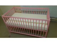 cot bed with matteress