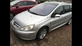 2005 1.6hdi diesel Peugeot 307sw quicksilver 7 seater